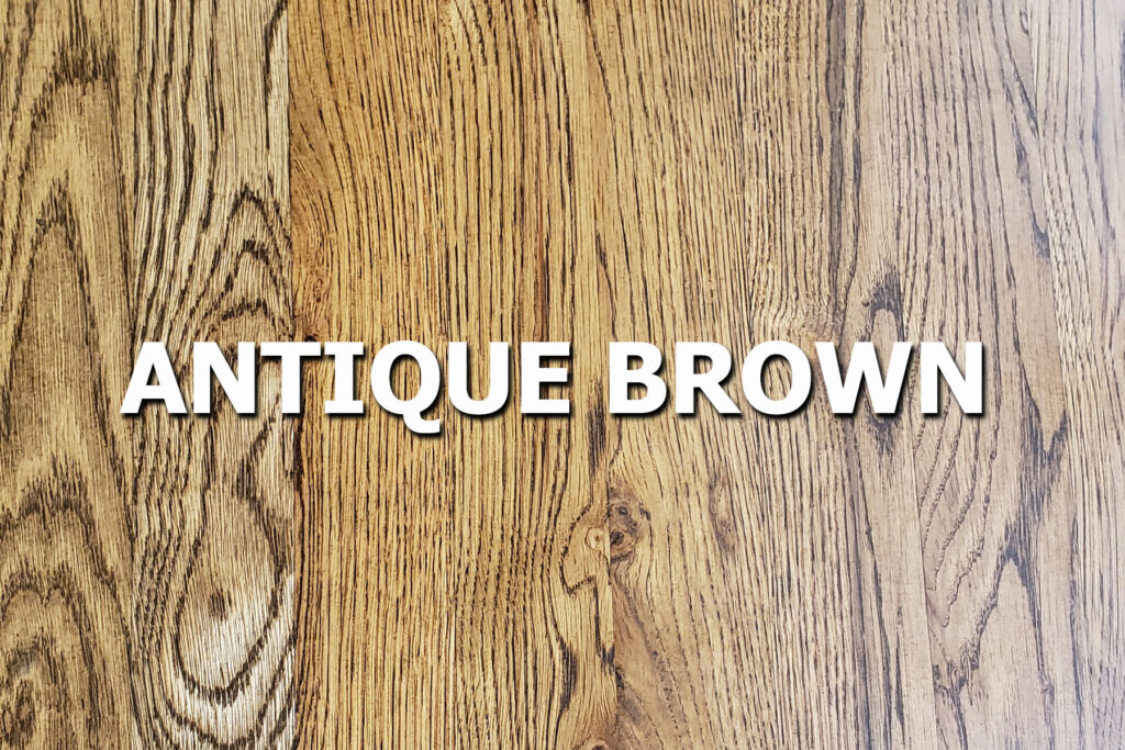 antique brown stain sample