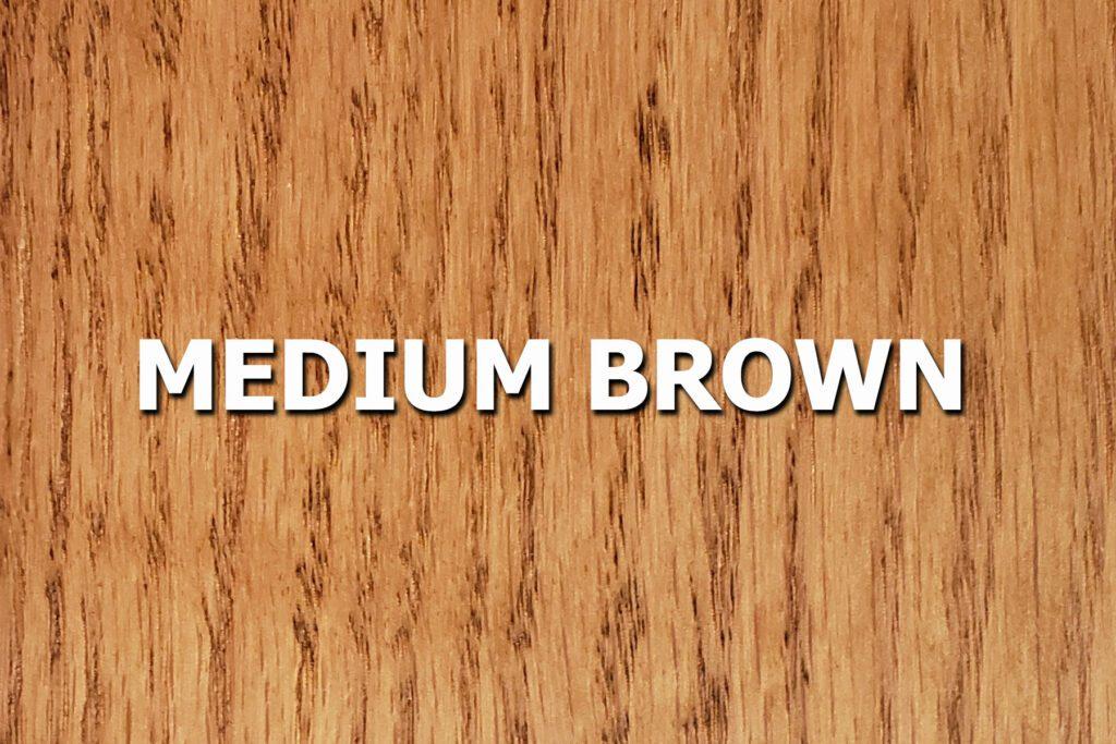 medium brown stain sample